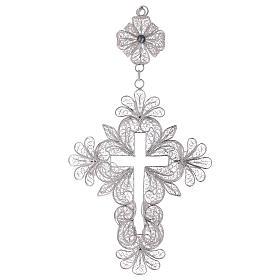 Croix pectorale en argent 800 filigrane s3