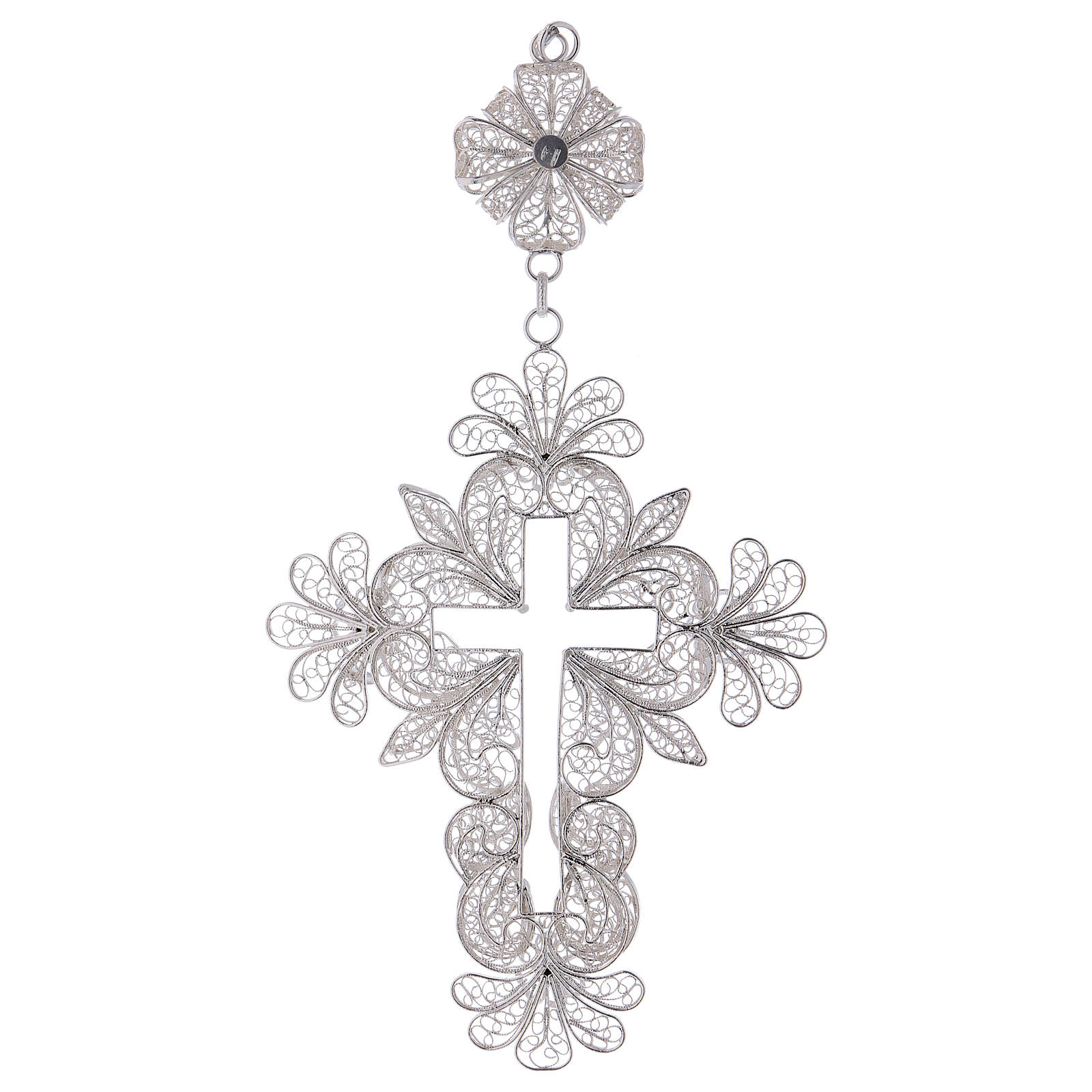 Croce pettorale filigrana Arg. 800 3