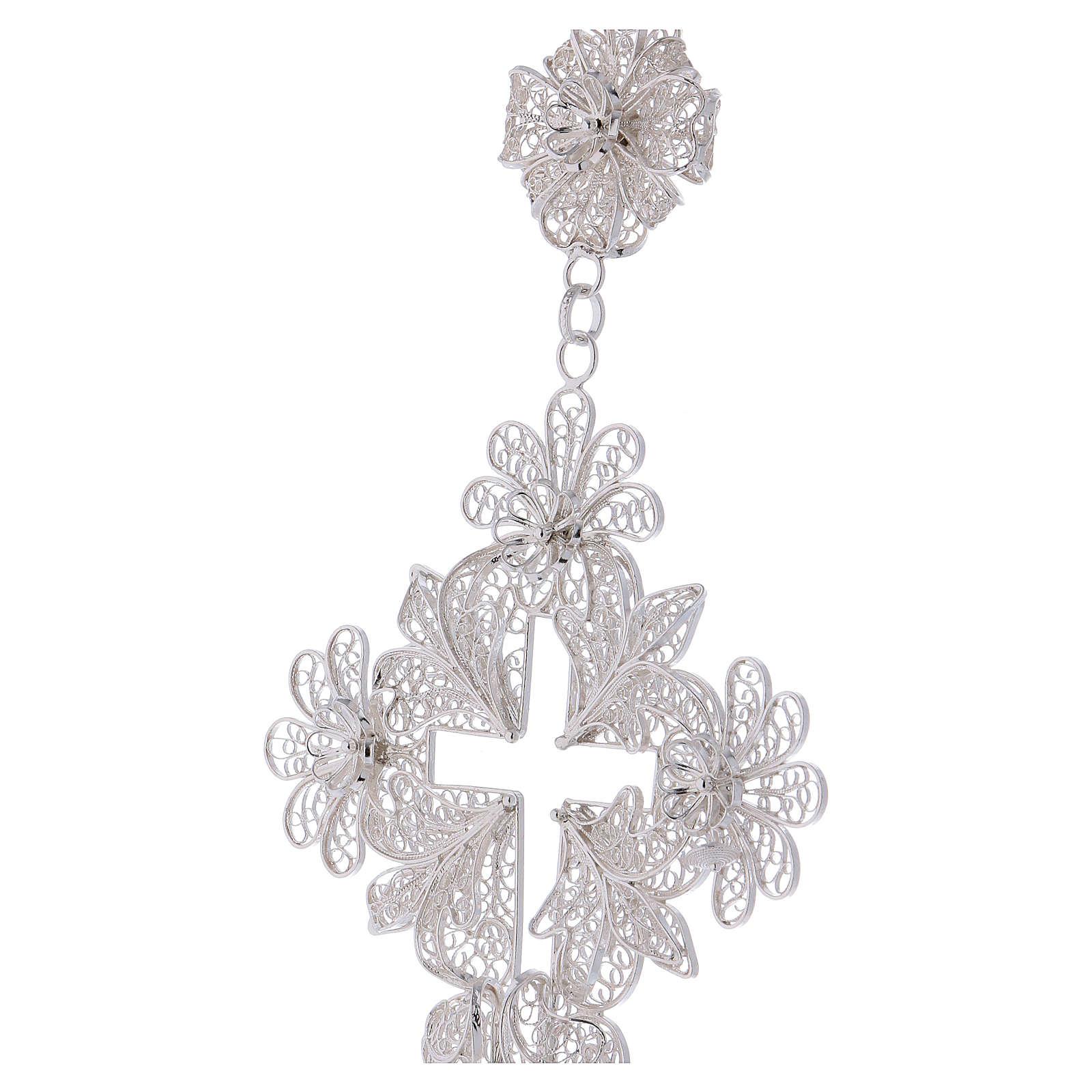 Pectoral Cross in silver 800 filigree 3