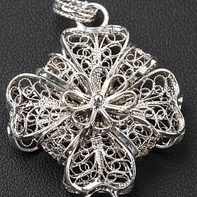 Pectoral Cross in silver 800 filigree s7
