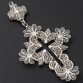 Pectoral Cross in silver 800 filigree s8