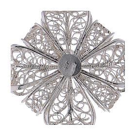 Pectoral Cross in silver 800 filigree s4