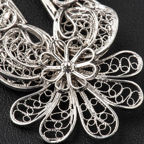 Pectoral Cross in silver 800 filigree 5