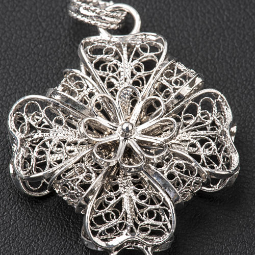 Pectoral Cross in silver 800 filigree 7