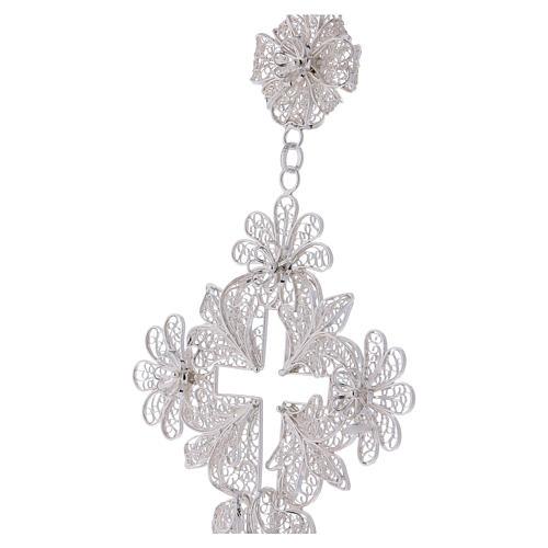 Pectoral Cross in silver 800 filigree 2