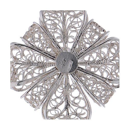 Pectoral Cross in silver 800 filigree 4
