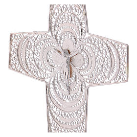 Pectoral Cross, hand made in silver 800 filigree s2