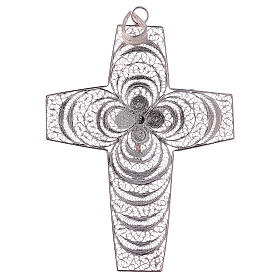 Pectoral Cross, hand made in silver 800 filigree s3