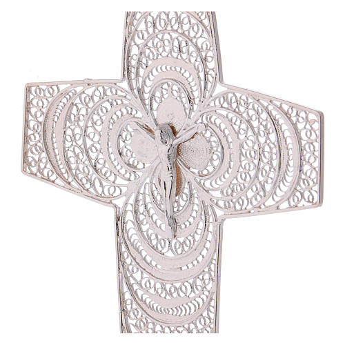 Pectoral Cross, hand made in silver 800 filigree 2
