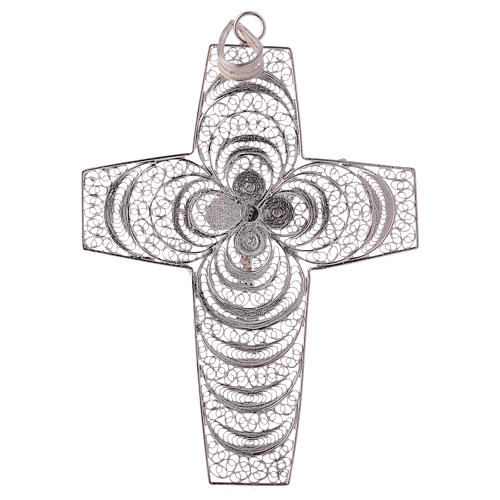 Pectoral Cross, hand made in silver 800 filigree 3
