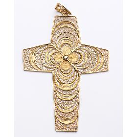 Croce pettorale in filigrana arg. 800 s1