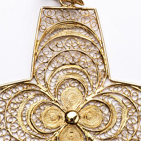Croce pettorale in filigrana arg. 800 s2