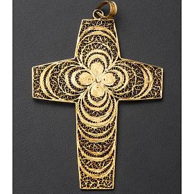Croce pettorale in filigrana arg. 800 s6