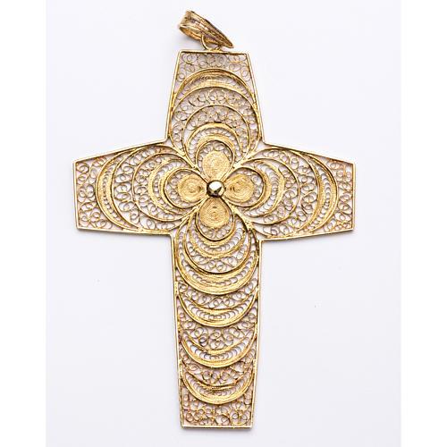 Croce pettorale in filigrana arg. 800 1