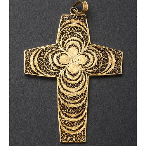 Croce pettorale in filigrana arg. 800 6