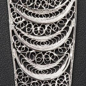Croix pectorale argent 800 stylisée améthyste s5