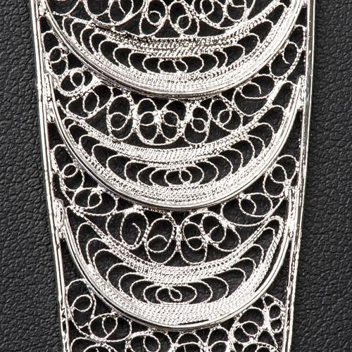 Croix pectorale argent 800 stylisée améthyste 5