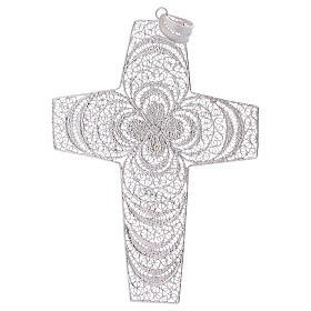 Croce pettorale argento 800 stilizzata ametista s3