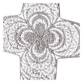 Croce pettorale argento 800 stilizzata ametista s4