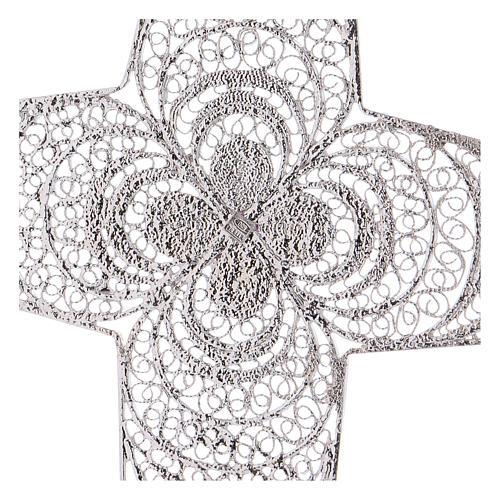 Croce pettorale argento 800 stilizzata ametista 4