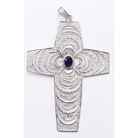 Pectoral cross, stylized with Amethyst stone s1