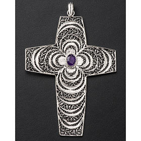 Pectoral cross, stylized with Amethyst stone s3