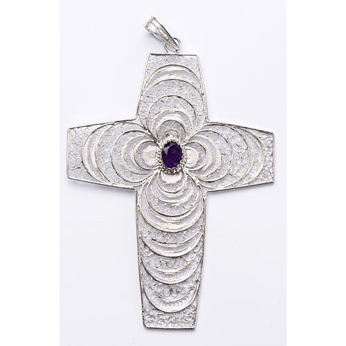 Pectoral cross, stylized with Amethyst stone 1