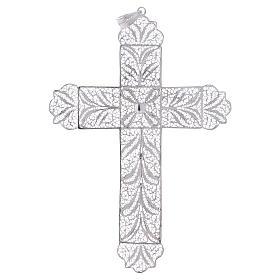 Cruz Pectoral de filigrana  estilizada, plata 800 s1