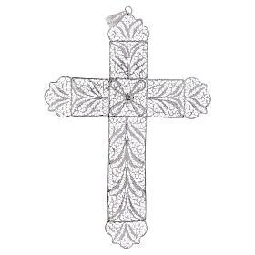 Cruz Pectoral de filigrana  estilizada, plata 800 s3