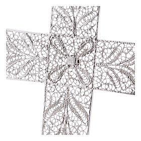 Cruz Pectoral de filigrana  estilizada, plata 800 s4