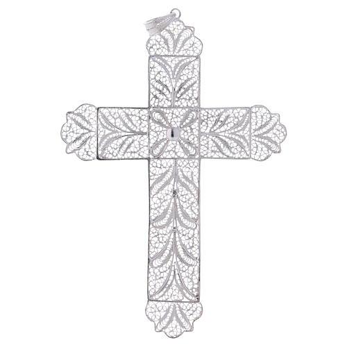 Cruz Pectoral de filigrana  estilizada, plata 800 1