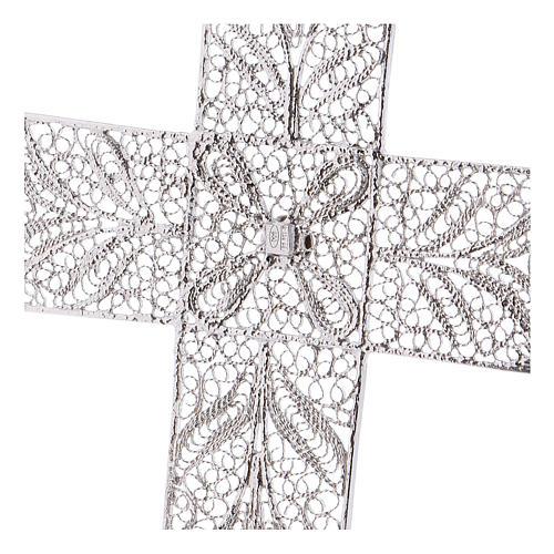 Cruz Pectoral de filigrana  estilizada, plata 800 4