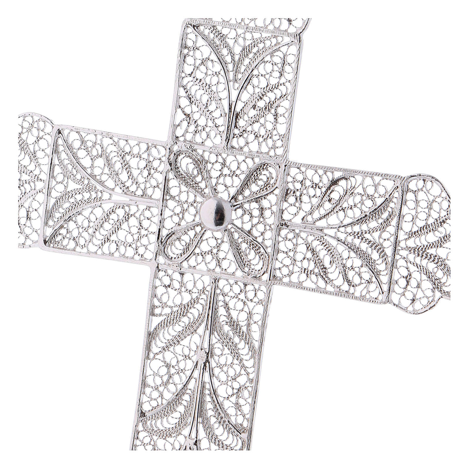 Croix épiscopale filigrane argent 800 3