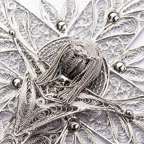 Croce vescovile Corpo di Cristo stilizzato filig. arg. 800 s4