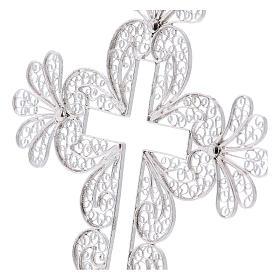 Croce vescovile decori argento 800 filigrana s2