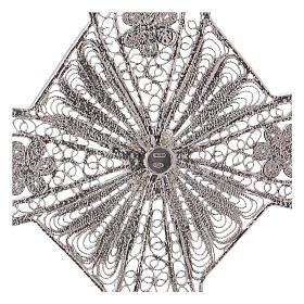 Croce vescovile turchese argento 800 filigrana s4