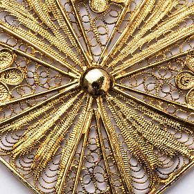Croix épiscopale filigrane d'argent 800 doré s2