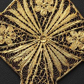 Croix épiscopale filigrane d'argent 800 doré s7