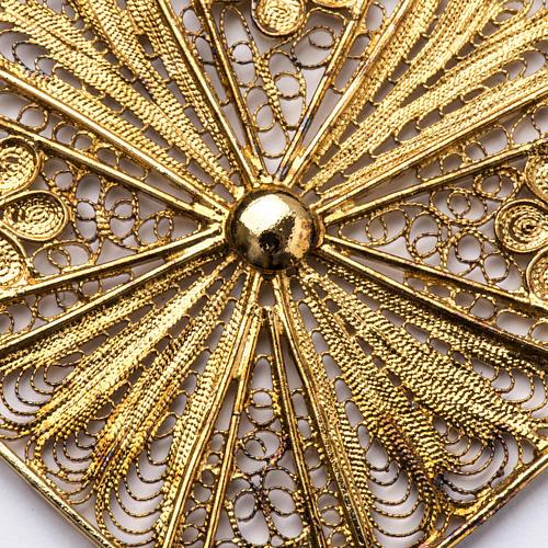Croix épiscopale filigrane d'argent 800 doré 2