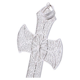 Pectoral cross in silver 800 with decorated filigree s2