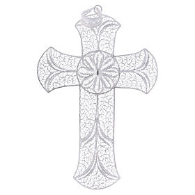 Cruz pectoral de plata 800 diseño de filigrana s1