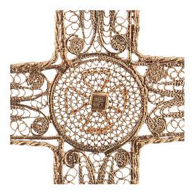 Croix épiscopale filigrane argent dorée s4