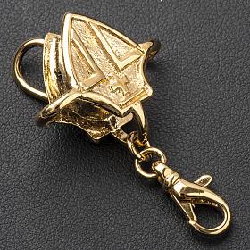 Gancho para cruz pectoral plata dorada s4