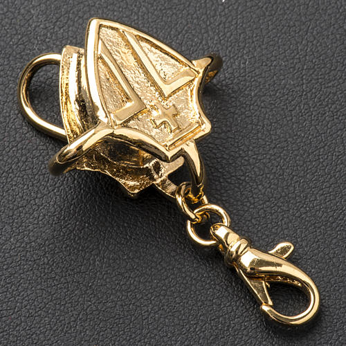 Gancho para cruz pectoral plata dorada 4