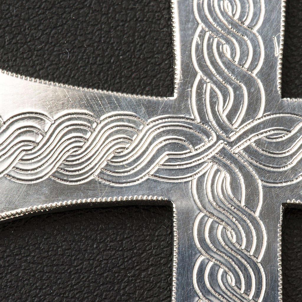 Croix épiscopale argent 800 avec gravures 3