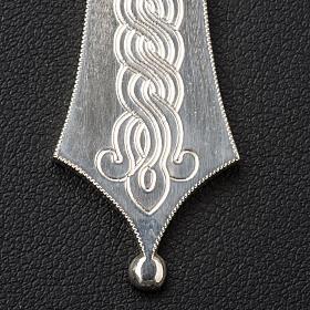 Croix épiscopale argent 800 avec gravures s4