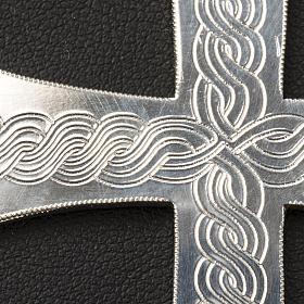 Croix épiscopale argent 800 avec gravures s5