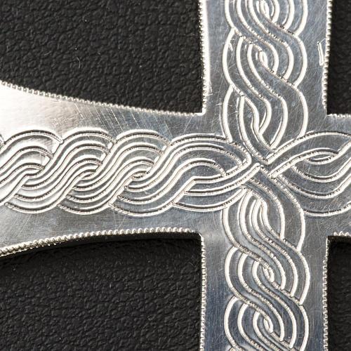 Croix épiscopale argent 800 avec gravures 5