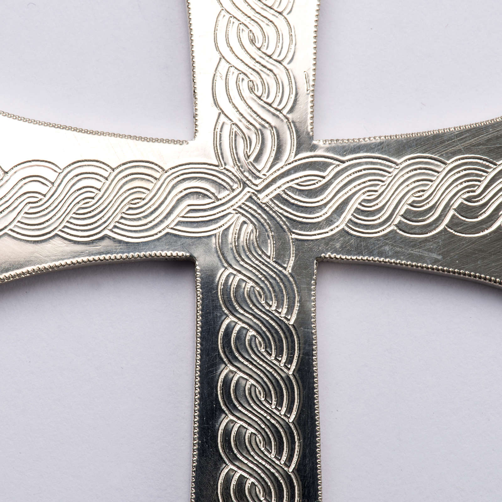 Pectoral Cross made of silver 800 with engravings 3
