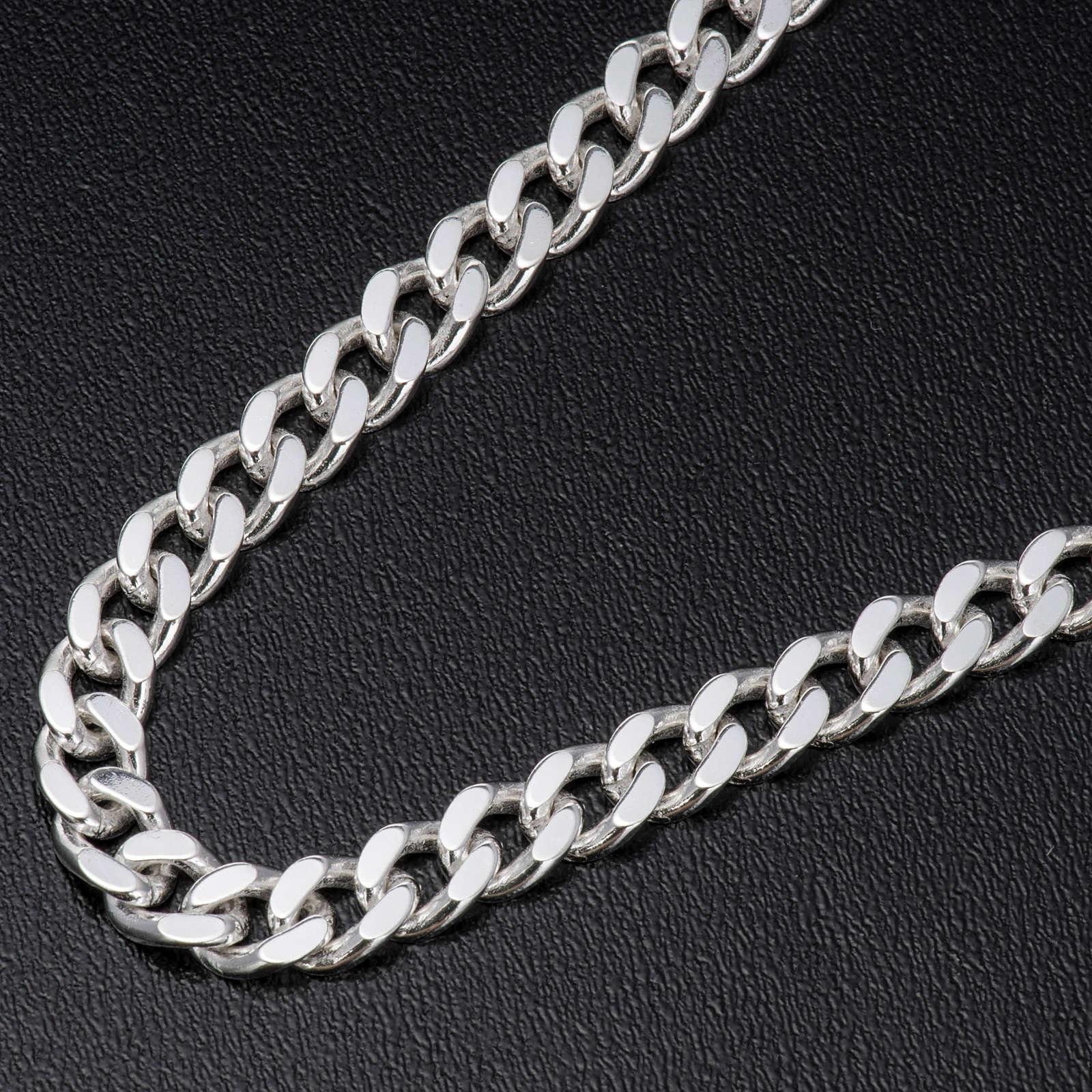 Łańcuch pektorału srebro 925 krawędzie klepane 2 3